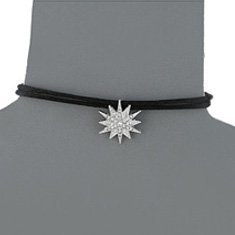Image of a black choker with starburst charm
