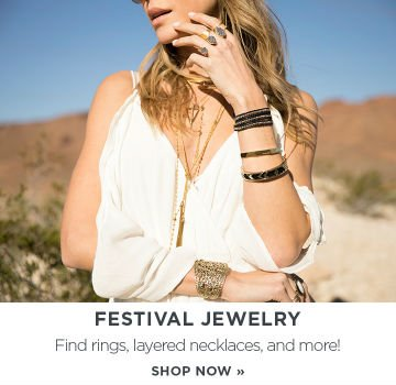 Festival Jewelry: Find rings, layered necklaces, and more!