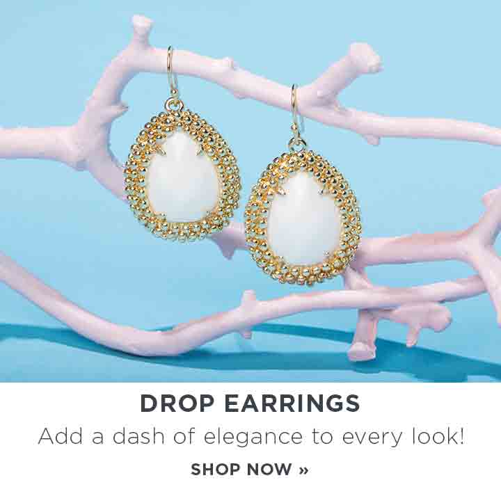 Drop Earrings. Add a dash of elegance to every look. Shop Now.
