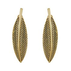 Image of a gold leaf earrings