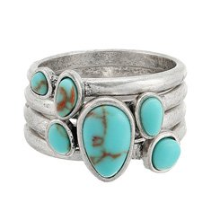 Image of a silver and turquoise ring