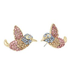 Image of a studded bird earrings