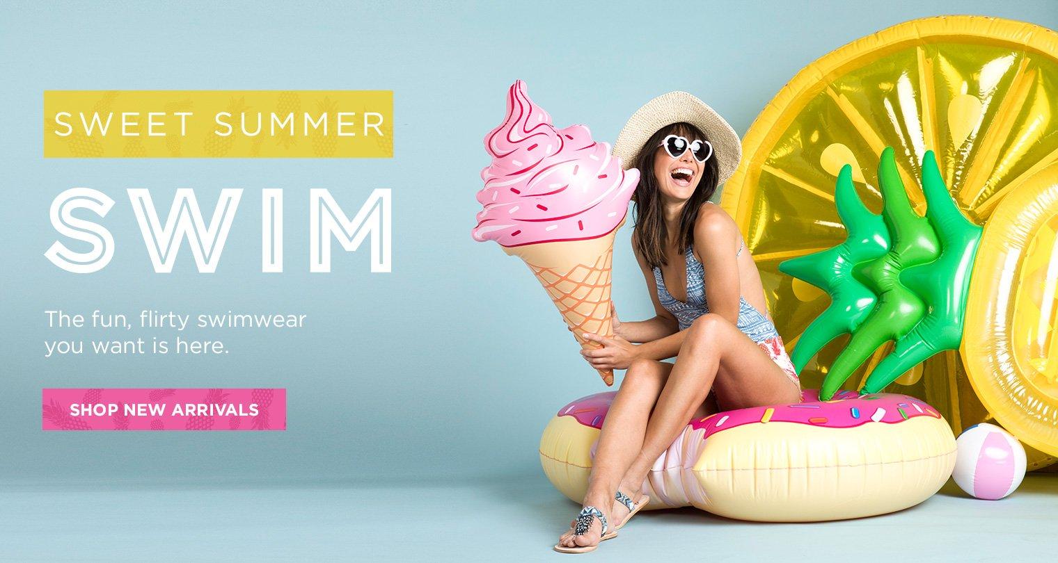 Sweet Summer Swim. The fun, flirty swimwear you want is here. Shop New Arrivals.