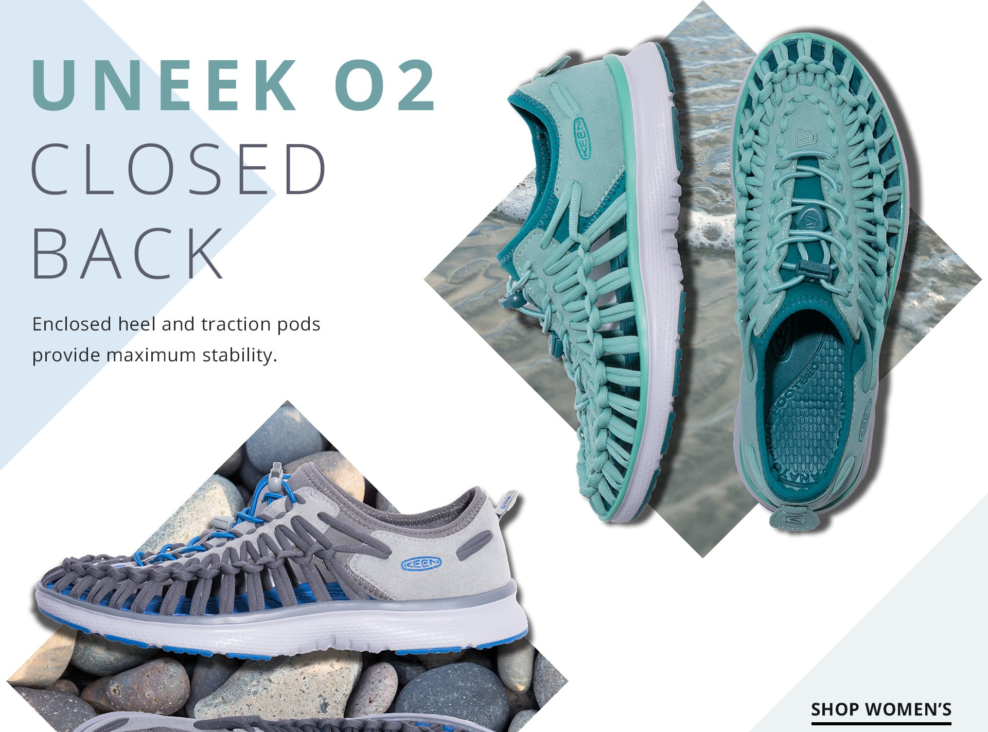 Uneek 02 Closed Back. Enclosed heel and traction pods provide maximum stability. Shop Women.