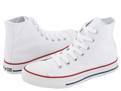 Kids White Converse High Top Shoes