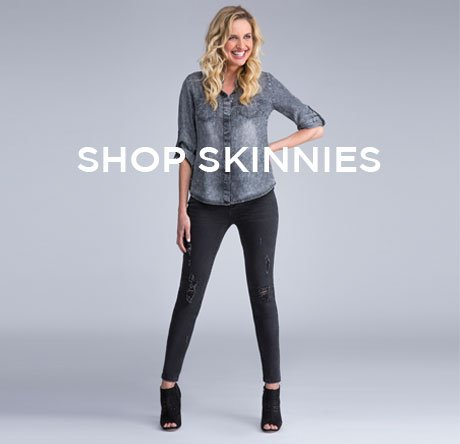 cp-3-skinnies-2017-08-30 Shop Skinny Jeans. Image of women in skinny jeans and a denim top