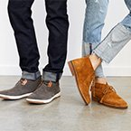 Man and woman wearing Hush Puppies shoes