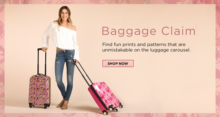 Baggage Claim. Find fun prints and patterns that are unmistakable on the luggage carousel.