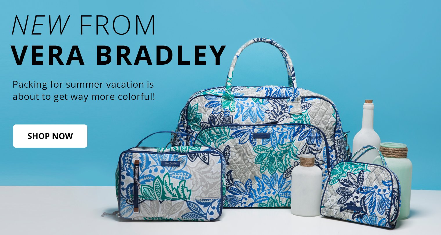 New from Vera Bradley. Packing for summer vacation is about to get way more colorful! Shop Now