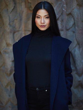 Woman wearing fall jacket