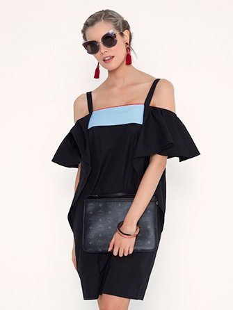 Off-The-Shoulder Black Dress