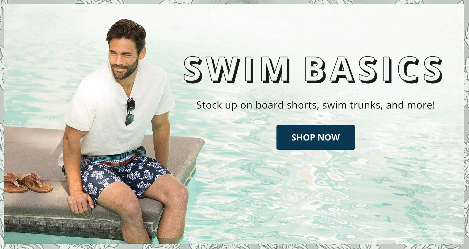 Swim basics. Stock up on board shorts, swim trunks, and more!