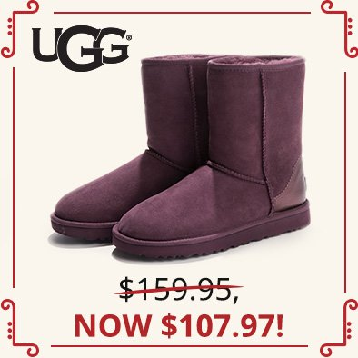 Image of Metallic Purple Classic II Short UGG®