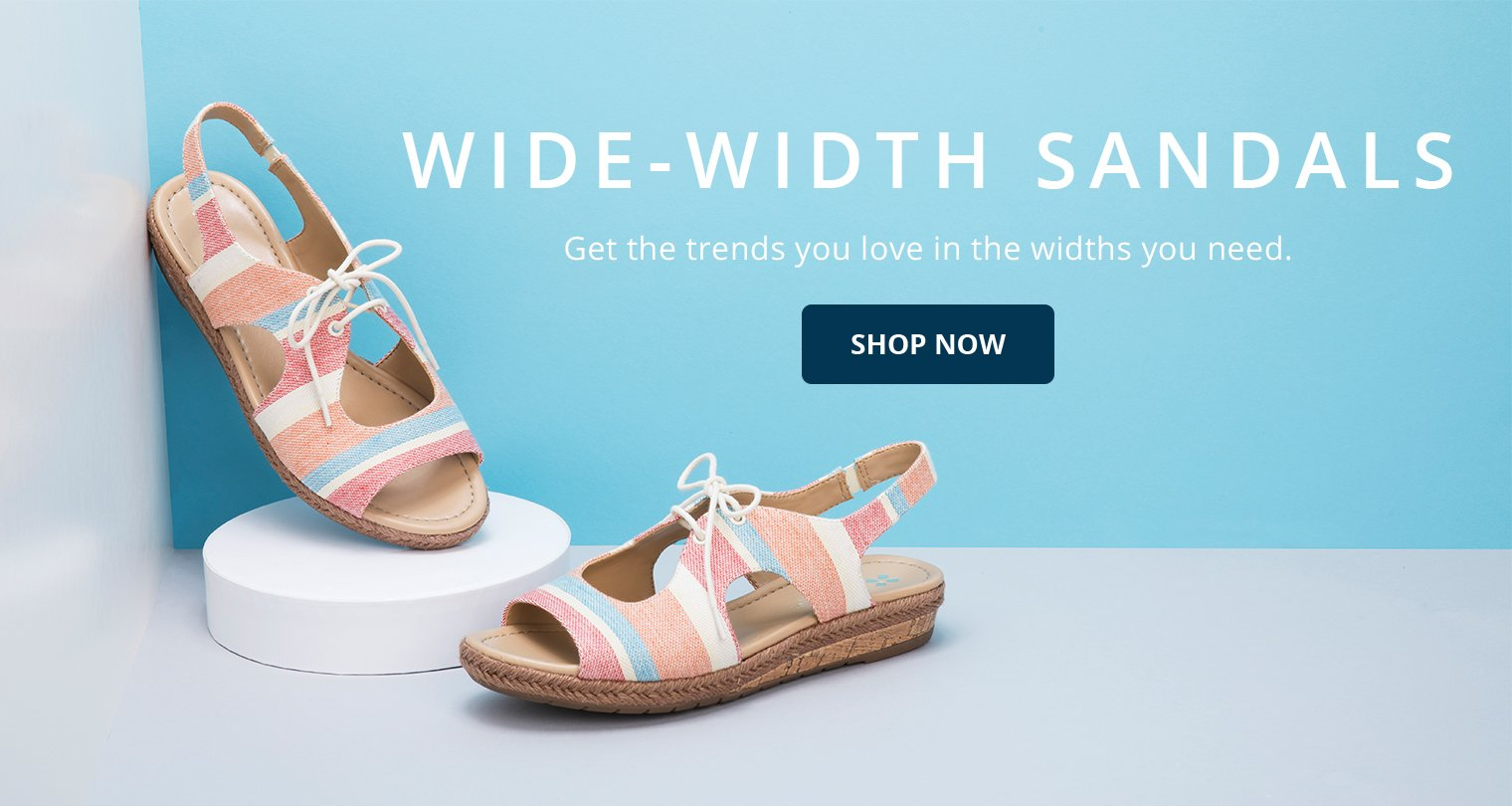 Wide-Width Sandals. Get the trends you love in the widths you need. Shop Now.