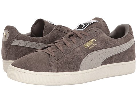Image of grey velvet Puma sneakers
