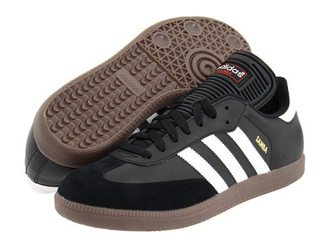 Image of a pair of black Adidas sneakers