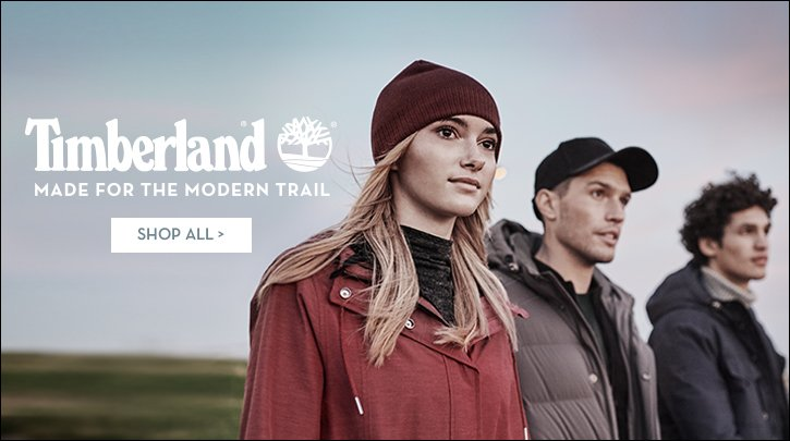 Image of three people wearing Timberland apparel