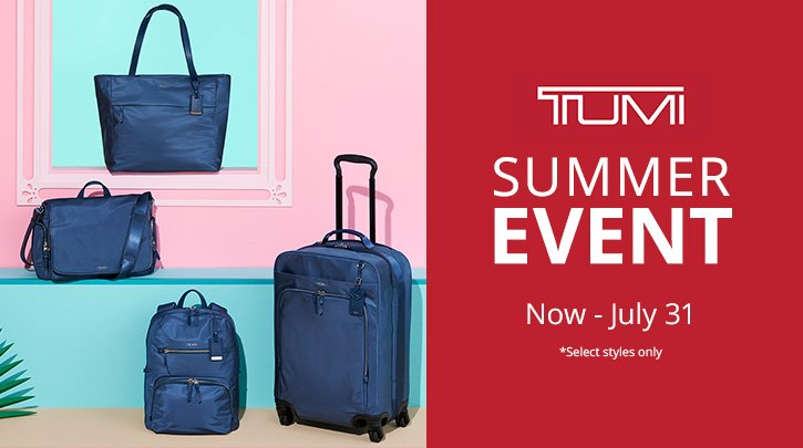 Tumi Summer Event. Now-July 31. Shop Now