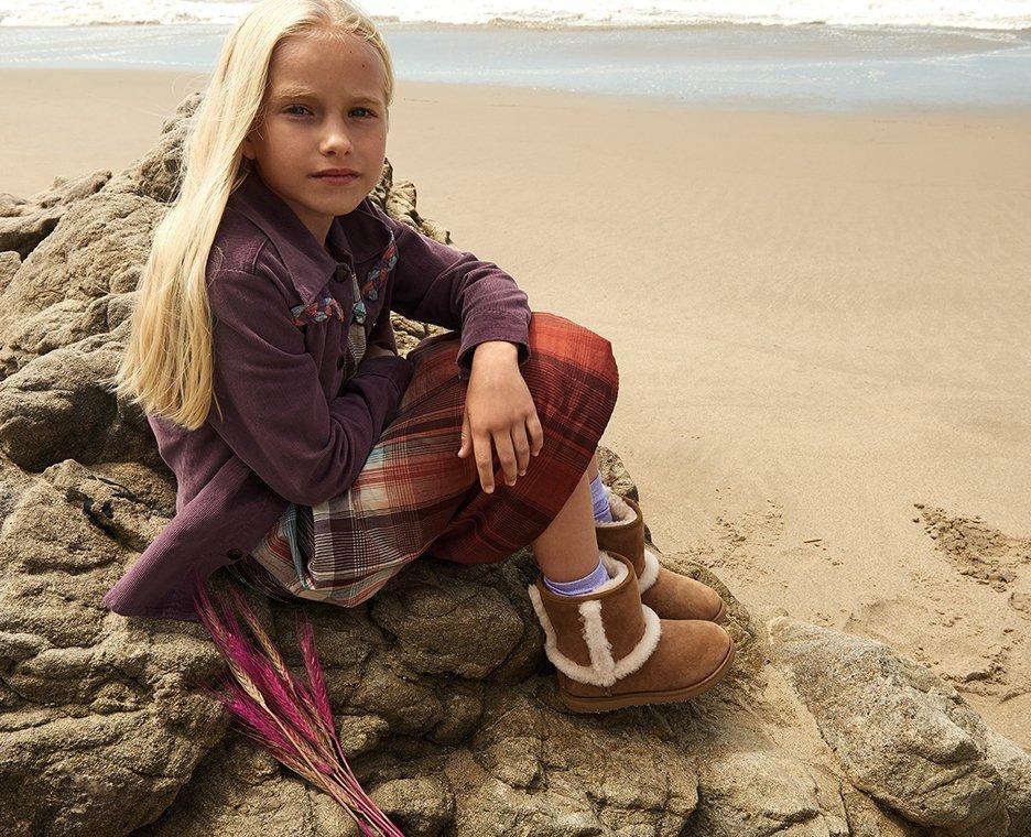 Image of girl wearing UGGS