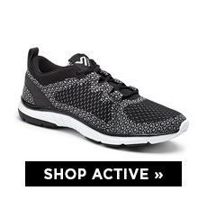 cp-3-ShopActive-3-9-2017- Shop Active. Image of a black sneaker