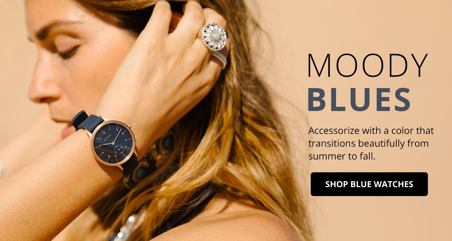 Moody Blues. Accessorize with a color that transitions from summer to fall. Shop Now.