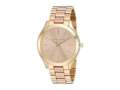 CP-3-07-5-2017 Shop Michael Kors Watches. Image of a gold watch.