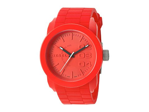 cp-06-13-2017 Shop Silicone Watches. Image of a red watch.