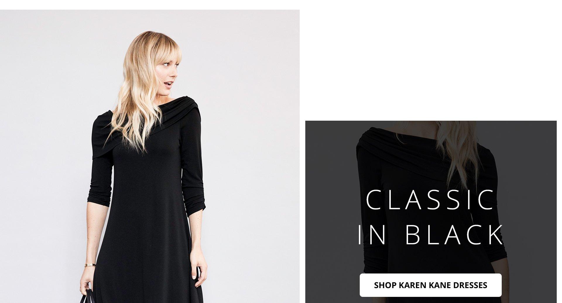 Classic in black. Shop Karen Kane Dresses.