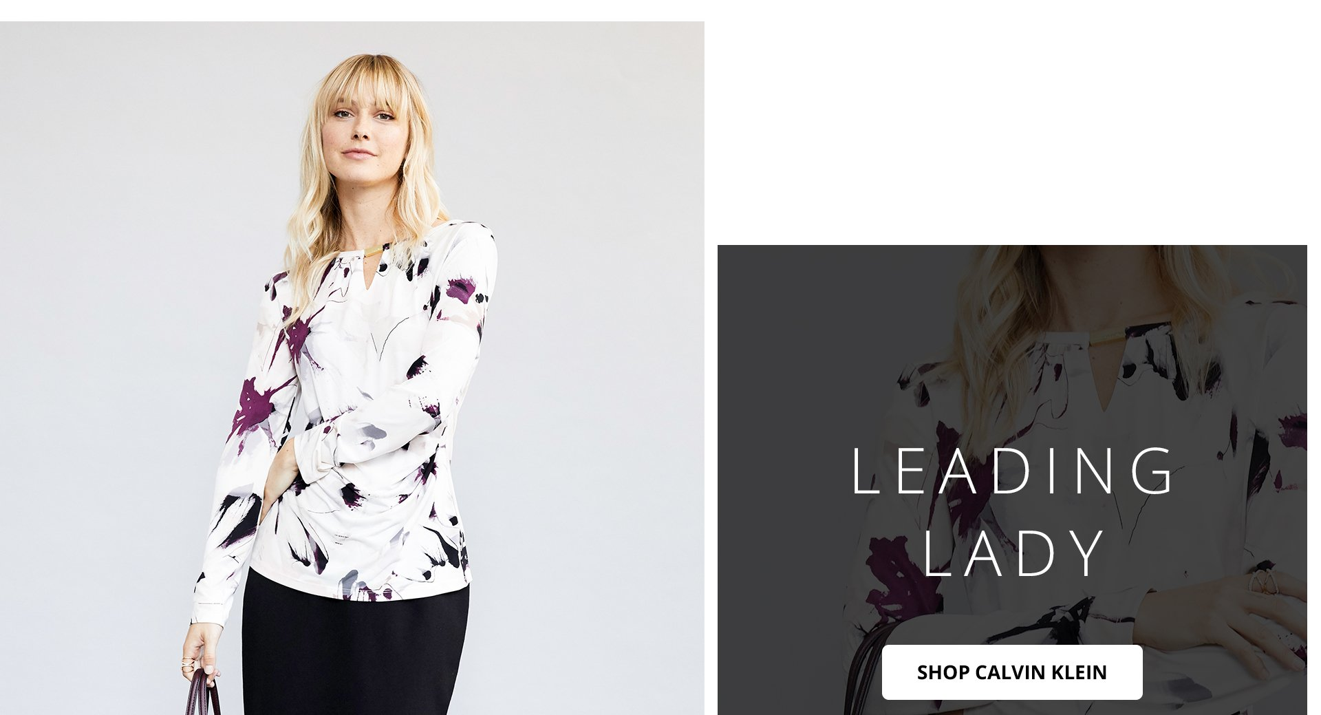 Leading lady. Shop Calvin Klein.