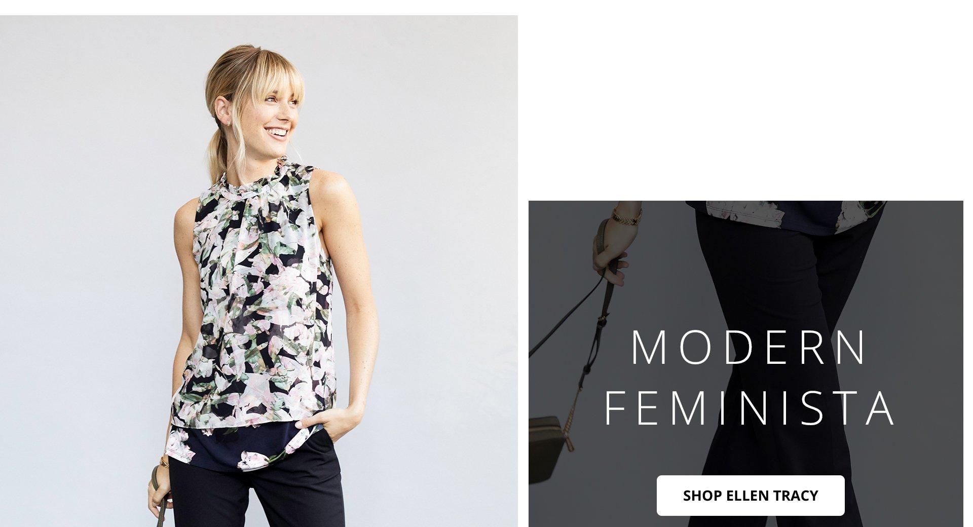 Modern Feminista. Shop Ellen Tracy.