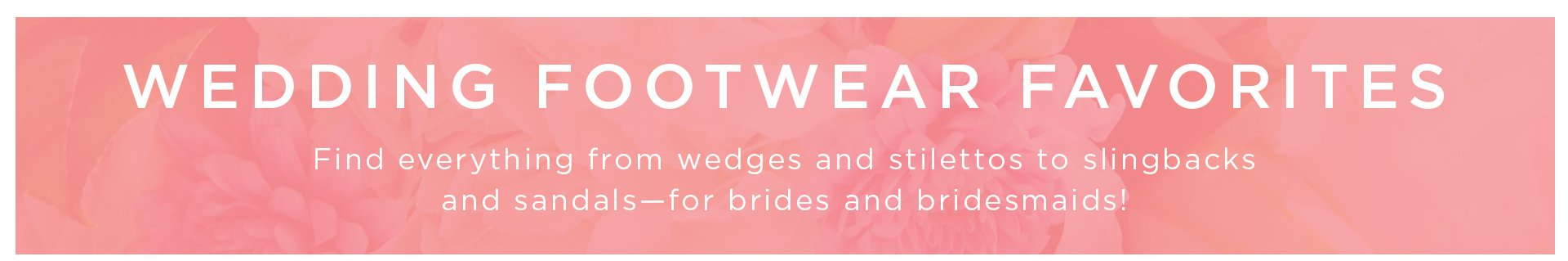 Header: Wedding Footwear Favorites