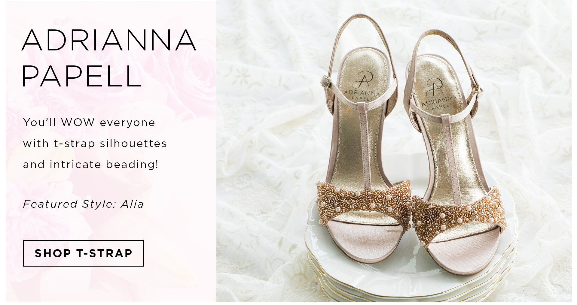 Wedding shoes bridal flats sandals heels more zappos header wedding footwear favorites badgley mischka shop nina adrianna papell junglespirit Image collections