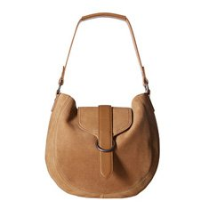 Image of a tan handbag with a single strap