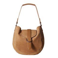 Image of a tan handbag with a single strap