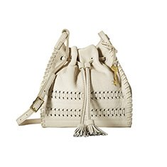 Image of a white bucket bag