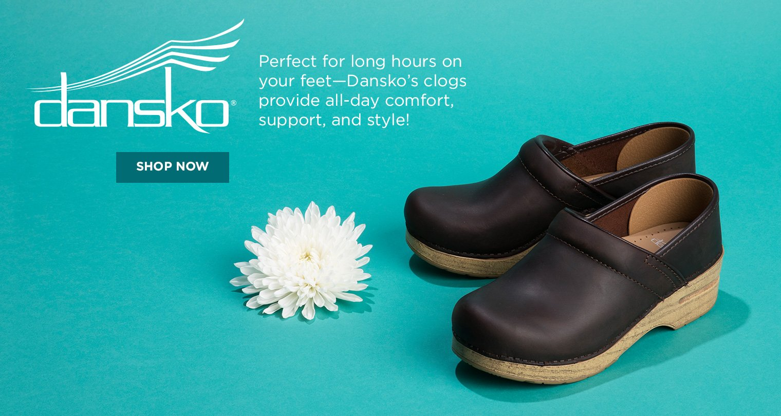 b36a046901a19 Perfect for long hours on your feet, Dansko's clogs provide all-day