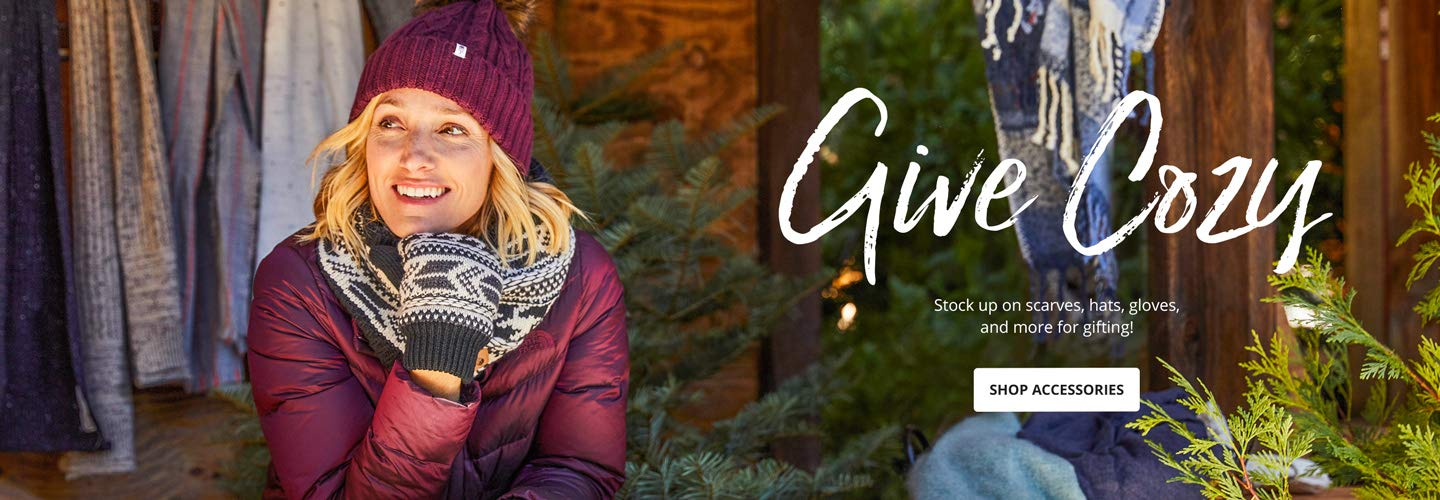 Give Cozy. Stock up on scarves, hats, gloves and more for gifting! Shop Accessories.