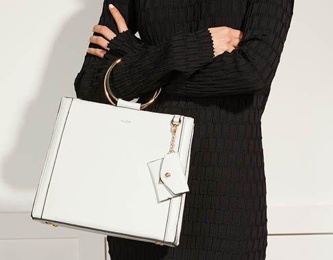 Image of white Aldo handbag