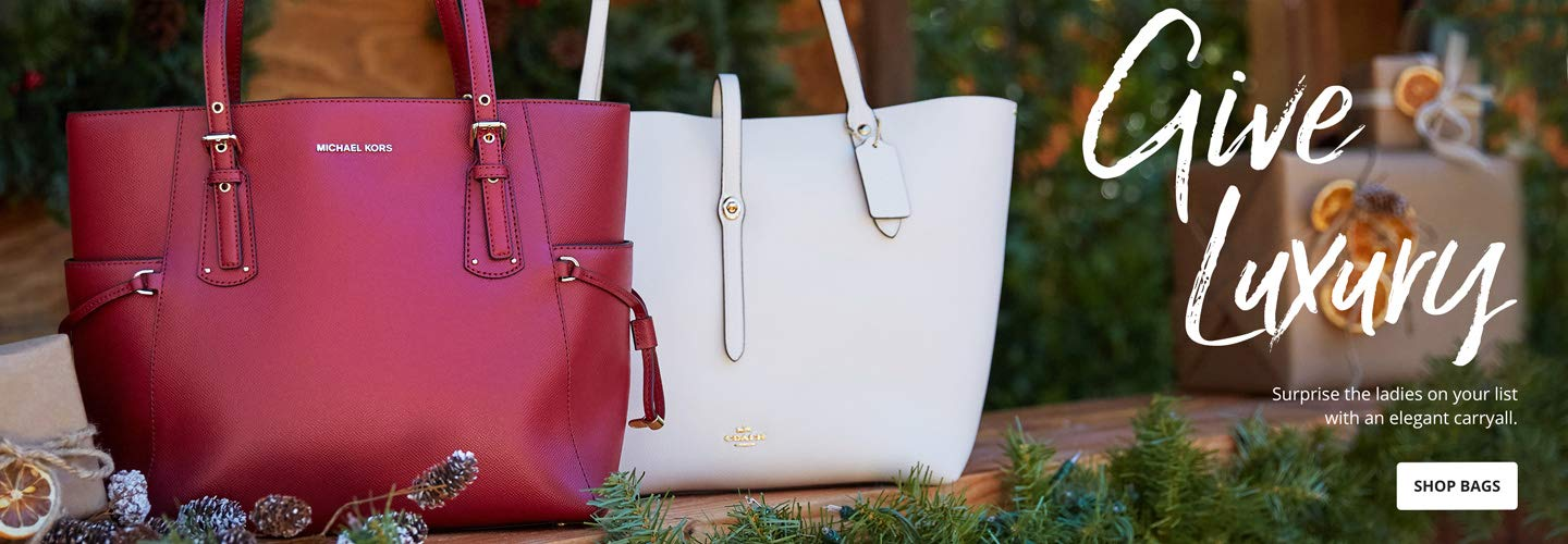 Give Luxury. Surprise the ladies on your list with an elegant carryall. Shop Bags.