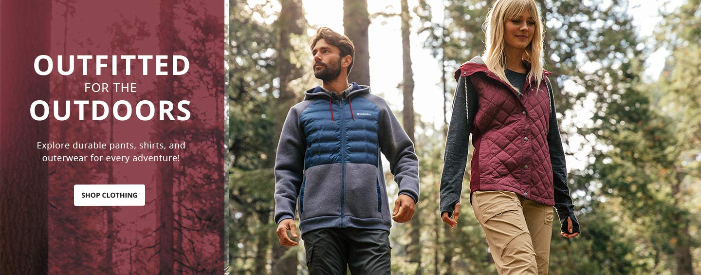 Outfitted for the outdoors. Explore durable pants, shirts, and outerwear for every adventure! Shop Clothing.