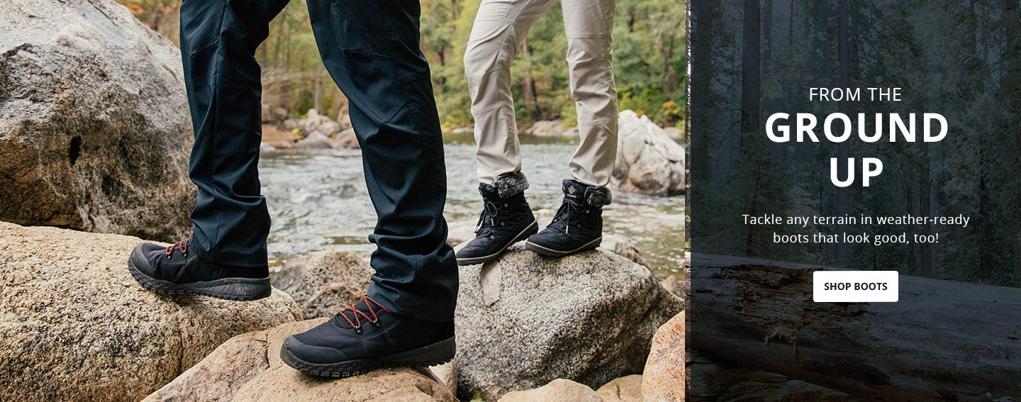 From the ground up. Tackle any terrain in weather-ready boots that look good, too! Shop Boots.