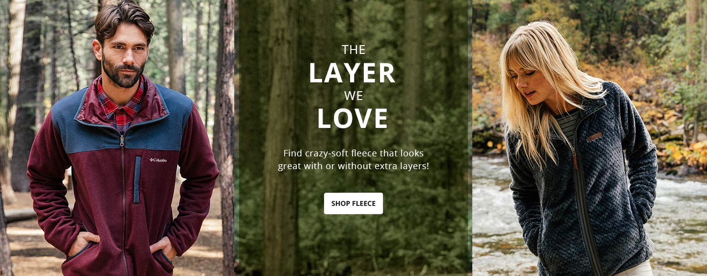 The layer we love. Find crazy-soft fleece that looks great with or without extra layers! Shop Fleece.