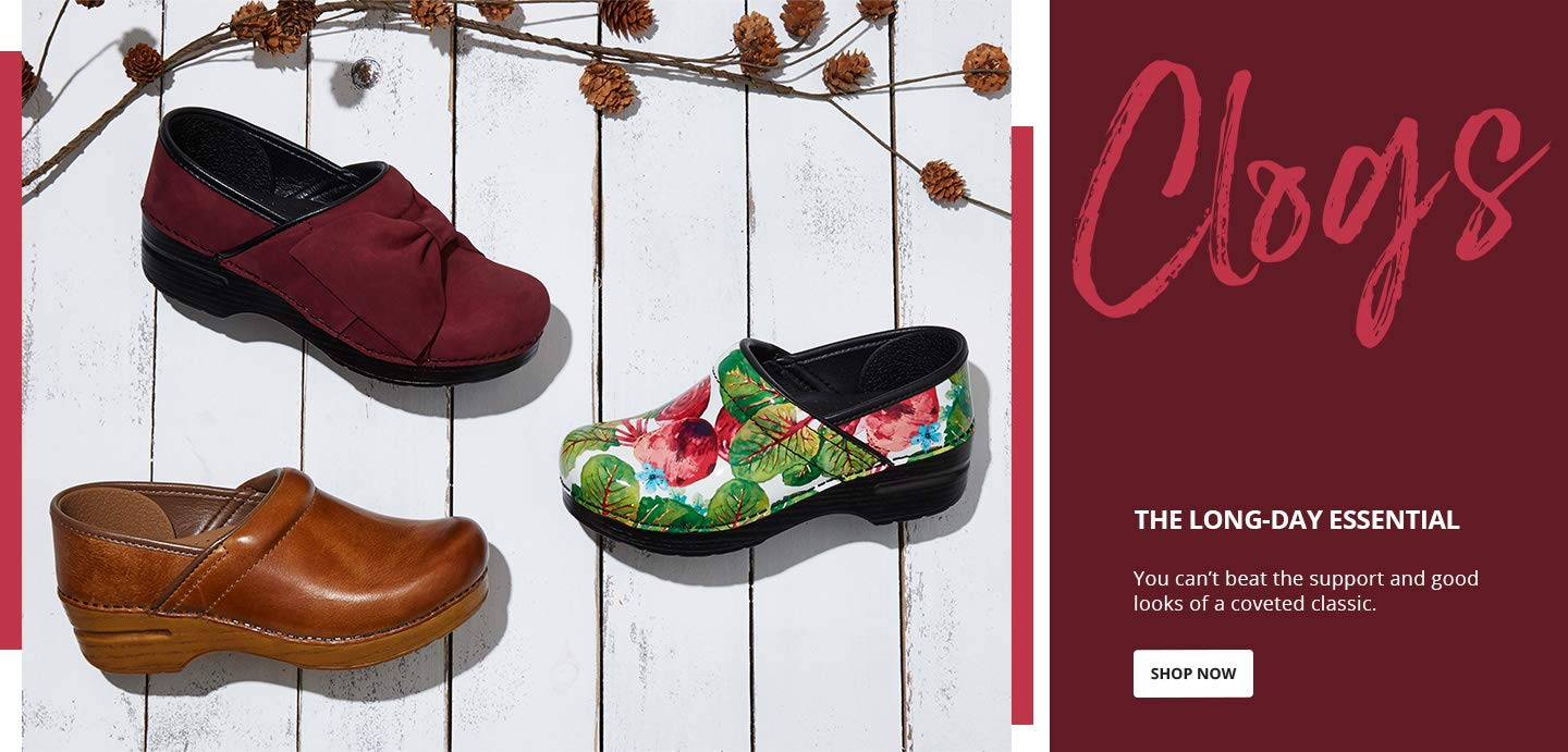 Clogs. The long-day essential. You can't beat the support and good looks of a coveted classic. Shop Now.
