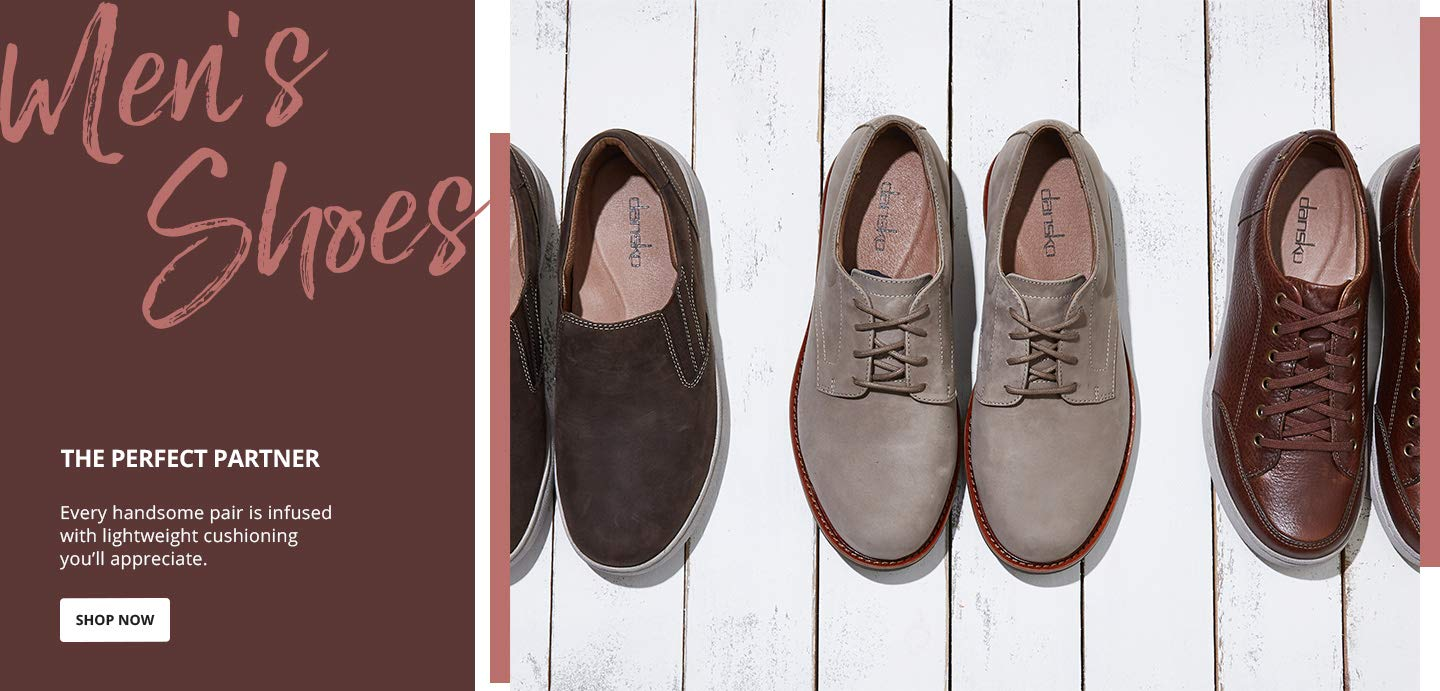 Men's Shoes. The perfect partner. Every handsome pair is infused with lightweight cushioning you'll appreciate. Shop Now.