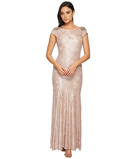 Image of Woman in Blush Evening Dress. Link to all Women's evening and cocktail dresses.