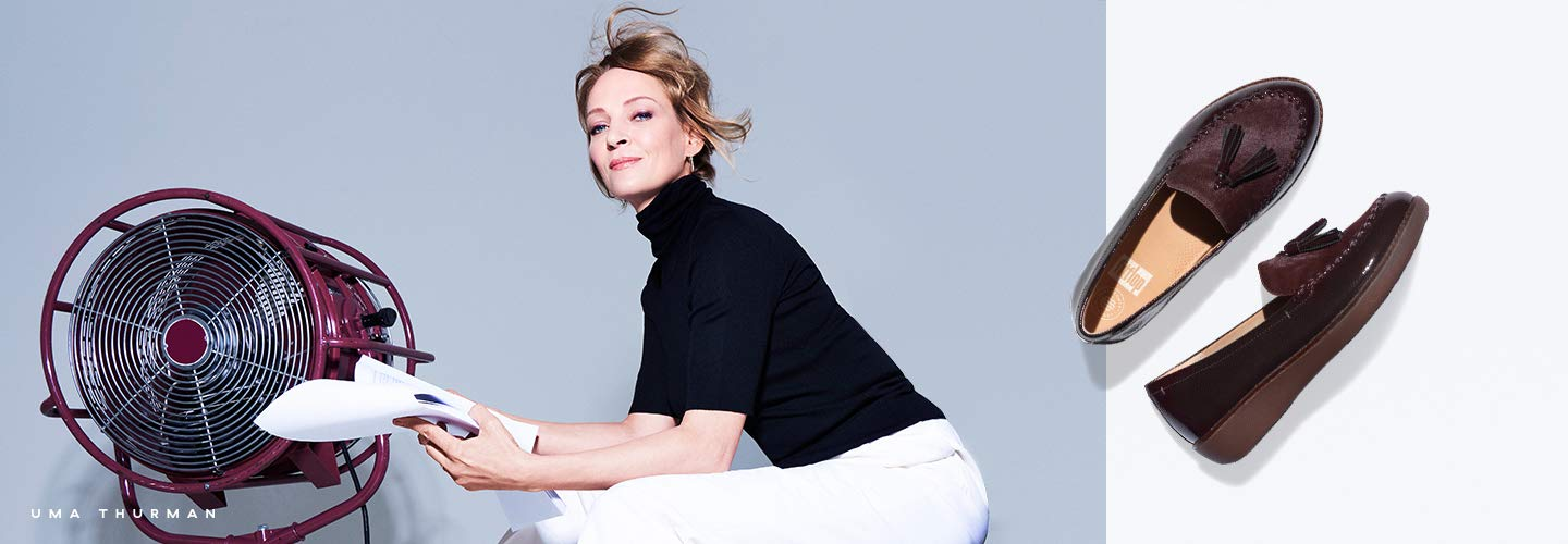 Image of Uma Thurman wearing FitFlop Shoes