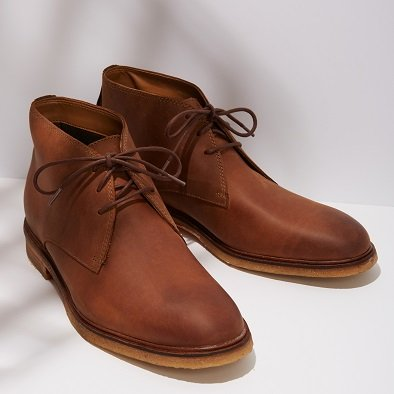 Image of men's leather brown chukka bots. Image links to all men's chukka  boots.