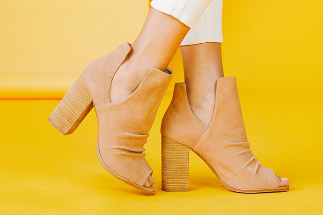 image link to shop peep toe booties