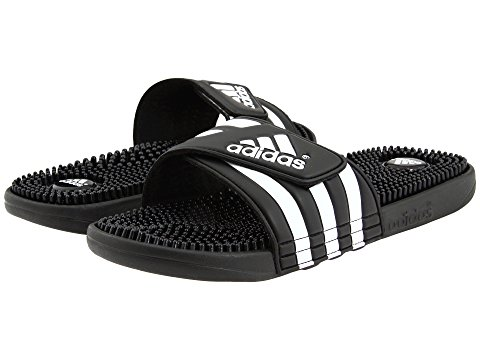 Image of black adidas slide sandals. Image links to all Women's athletic slide sandals.