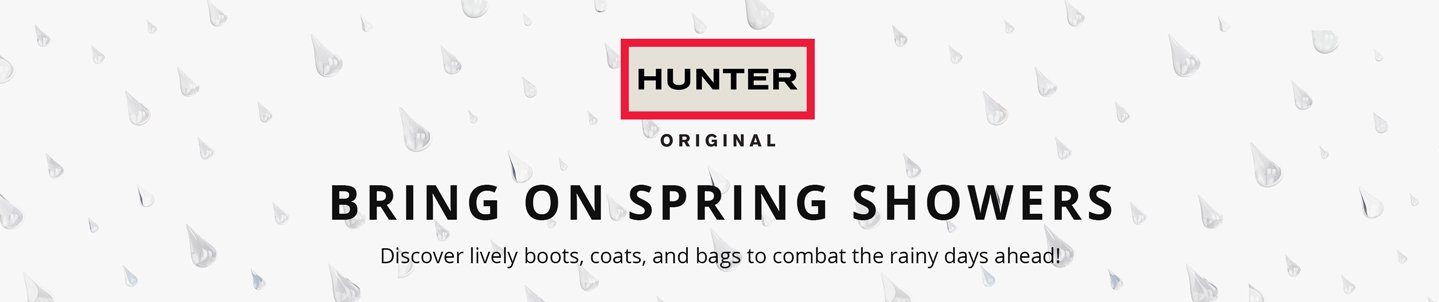Bring on Spring Showers. Discover lively boots, coats, and bags to combat the rainy days ahead!